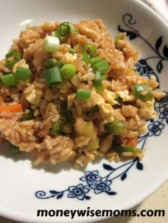 Simple Vegetable Fried Rice - super easy and great way to use up leftover veggies!