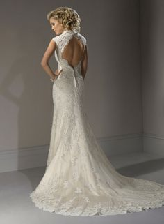 Large View of the Bernadette Bridal Gown -- Not sure I like the button on the back but This is the overall gist of what I think I will like.