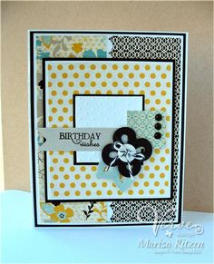 Card by Marisa Ritzen using Verve Stamps Big Wish and Loopy Bloom die.