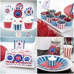 4th of July - TomKat Party Kit including Printables + Supplies