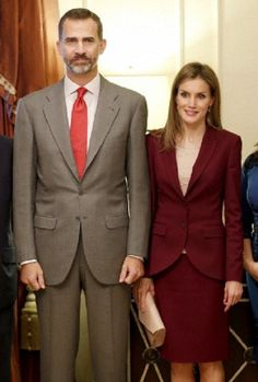 Spanish King Felipe VI and Queen Letizia before a meeting with Spanish scientists in New York 22.09.2014