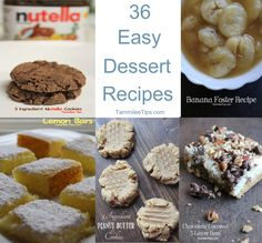 36 Easy Dessert Recipes