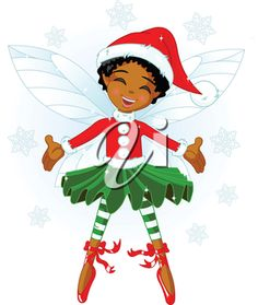 iCLIPART - Royalty Free Clipart Image of a Christmas Fairy