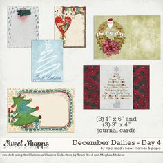 Free December Daily Journaling Cards from Traci Reed Designs