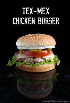 Tex-Mex Chicken Burgers   Maple Leaf Prime Chicken   InSearchOfYummyness.com