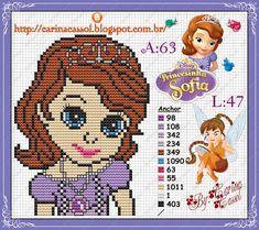 Princess Sofia perler bead pattern by Carina Cassol