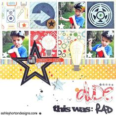 #papercraft #scrapbook #layout.  Dude This Was Rad - Scrapbook.com - Made with Echo Park products.