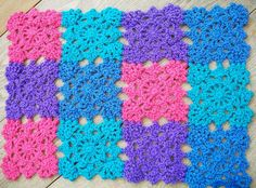 Snowflake Motif baby doll crocheted blanket