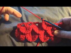 Here it is - nobody wanted to share the pattern - but..........Crocodile Stitch - shown on video ;) Enjoy!