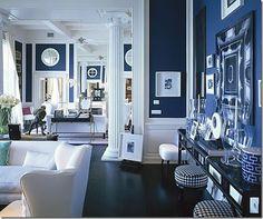 Cobalt blue & white