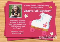Roller Skating Party Invitation