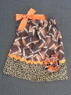 Football pillowcase dress.