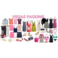 packing plan for Vegas!, created by shopwithm on Polyvore