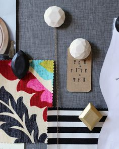 DIY Plaster Gem Push Pins - Could make these to hang necklaces + bracelets on