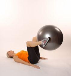 Extension de piernas con el fitball