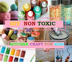 toxic kitchen, non toxic kids crafts, kitchen crafts, non toxic paint for kids, happi crafti