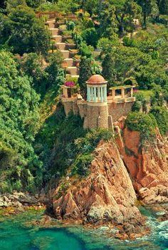 Cliffside, Blanes, Spain  #SummerInspiration #ad