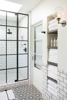 White and black bath