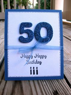 Men's 50th Birthday Greeting Card