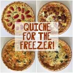 Quiche freezes so we