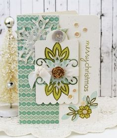Merry Christmas Card by Melissa Phillips for Papertrey Ink (December 2013)