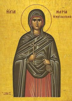 Icon of Saint Mary Magdalen, Myrrh-bearer and Apostle to the Apostles; the patron saint of our chapel.