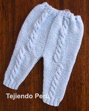 Pantalón y cobija con trenzas para bebés tejido en dos agujas o palitos !