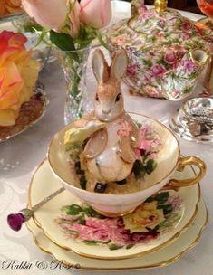table settings, easter wedding, tea sets, alice in wonderland, peter rabbit, tea tables, vintage life, vintage tea, teacup
