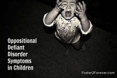 Symptoms of Oppositional Defiant Disorder in children