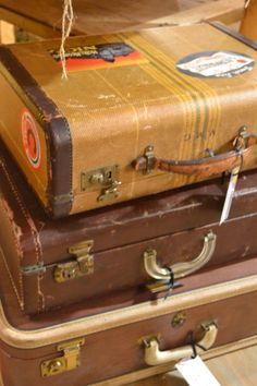 vintage suitcases at www.chartreuseandco.com