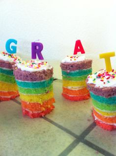 How to Make Mini Rainbow Cakes