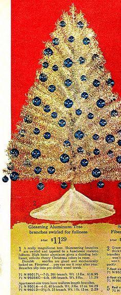Vintage Aluminum Christmas Tree Ad