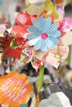 Recycled Magazine Flowers