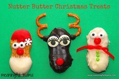 fun food, nutter butter, candi, cooki, butter christma, christmas treats, christma treat