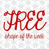 FREE Shape of the Week 12-4 #snowflake