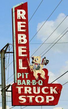 REBEL Pit Bar-B-Q Truck Stop...Mt. Pleasant Tennesse