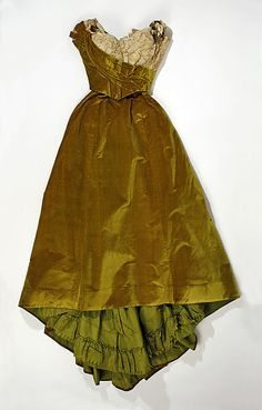 Evening Dress, house of Worth 1899, French, Made of silk
