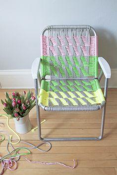 DIY Woven Macramé Chair Tutorial