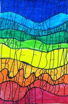 3rd--Good beginning of the year project. Name+describing characteristics. we heart art: The Spectrum of our Personalities