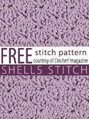 beauti stitch, free pattern, crochet magazin, shell crochet, free shell, crochet stitches, shell stitch, free stitch, stitch patterns