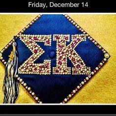 Sigma Kappa graduation cap.