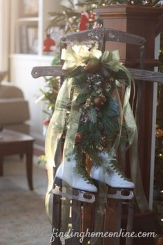 Vintage Christmas Sled