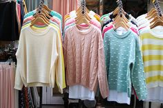 Pastel jumpers