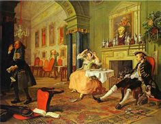 """""""shortly after the marriage"""" william hogarth 1743"""