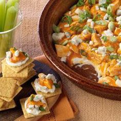 "Philadelphia Buffalo Chicken Dip | ""YUM. I cubed some cooked chicken breast that I had leftover and just mixed everything together. It was so tasty and satisfied my hot wing craving!"""