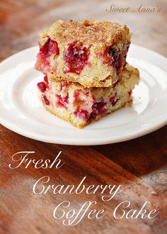 fresh cranberry coffee cake