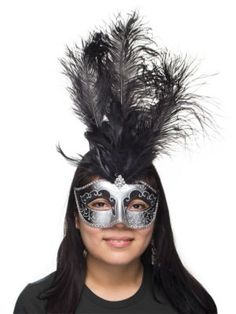 Venetian Feather Mask at Costume Supercentre