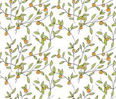 Orange Tree fabric by abbyg on Spoonflower - custom fabric - blouse