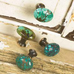 Turquoise knobs