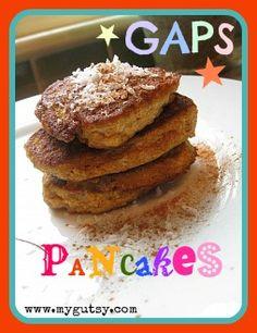 GAPS pancakes. Almond flour, pumpkin, salt, cinnamon, coconut and butter or ghee.